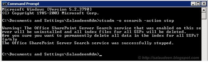 Restart Search Service