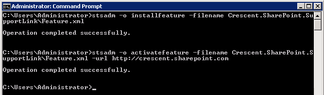 Install activate feature
