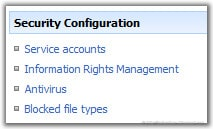 Blocked File Types in SharePoint