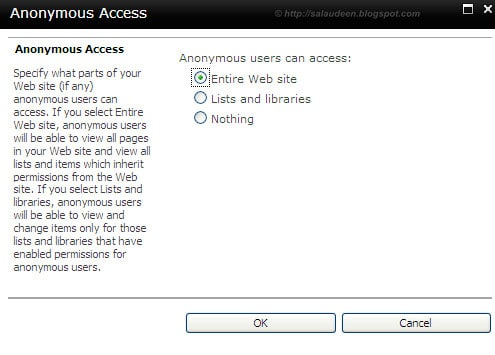 enable anonymous access sharepoint 2010 list or Library