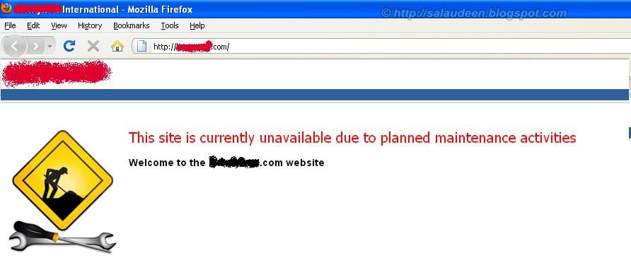 moss 2007 maintenance page