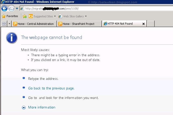 page not found after migration