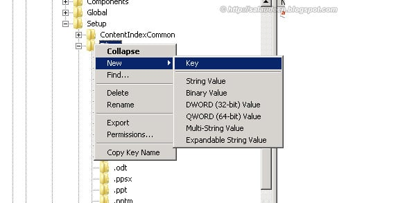 sharepoint 2010 pdf ifilter registry change