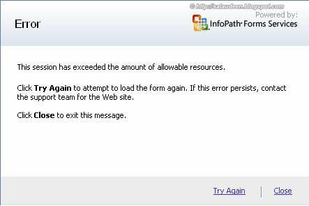 infopath session error