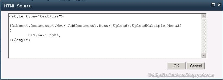 disable multiple file upload sharepoint 2010