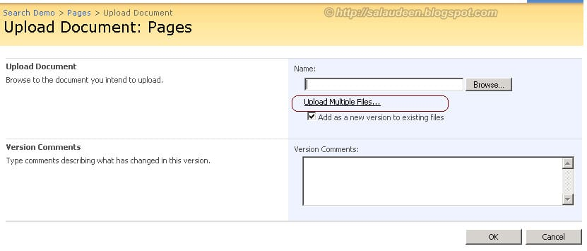 disable multiple file upload sharepoint