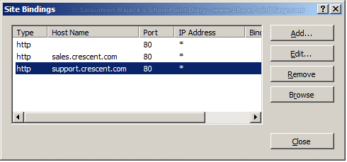 Host Named Site Collections in SharePoint