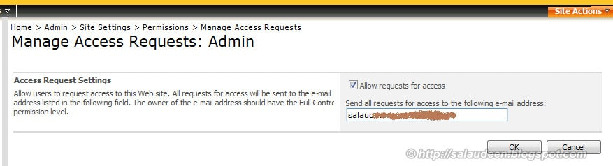 manage access requests sharepoint