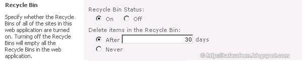 sharepoint recycle bin days
