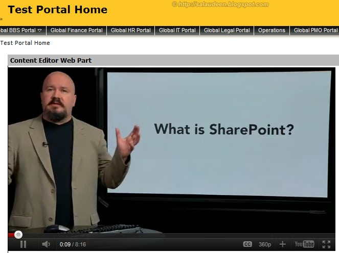 play youtube videos in sharepoint result