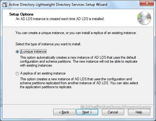 Create a Unique AD LDS instance