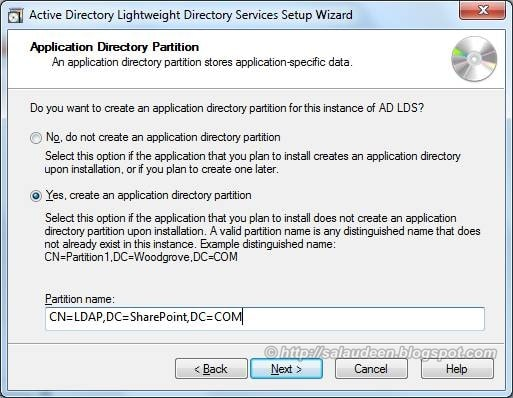 AD LDS Application directory partition