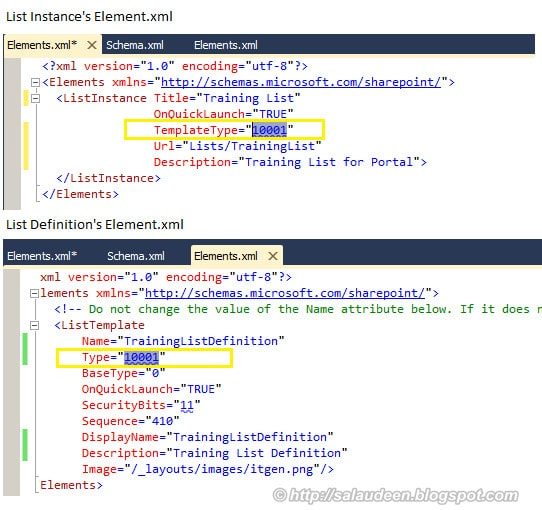 sharepoint 2010 list definition example