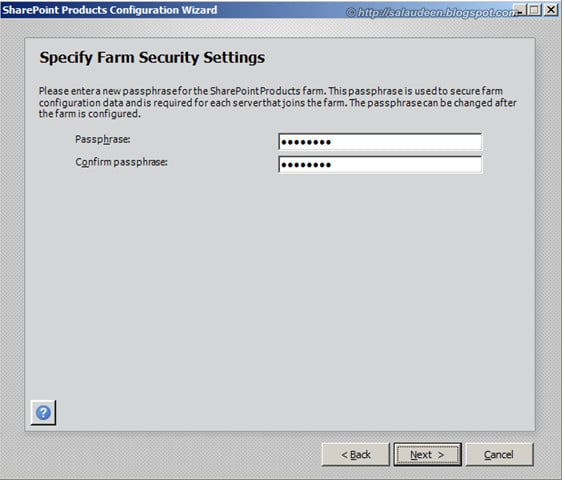 How to reset SharePoint Farm Phrase