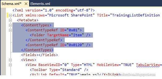sharepoint 2010 custom list definition schema.xml