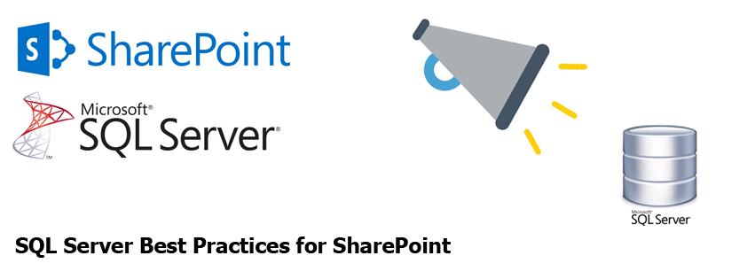 sql server best practices for sharepoint