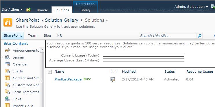 sandbox solution in sharepoint 2010