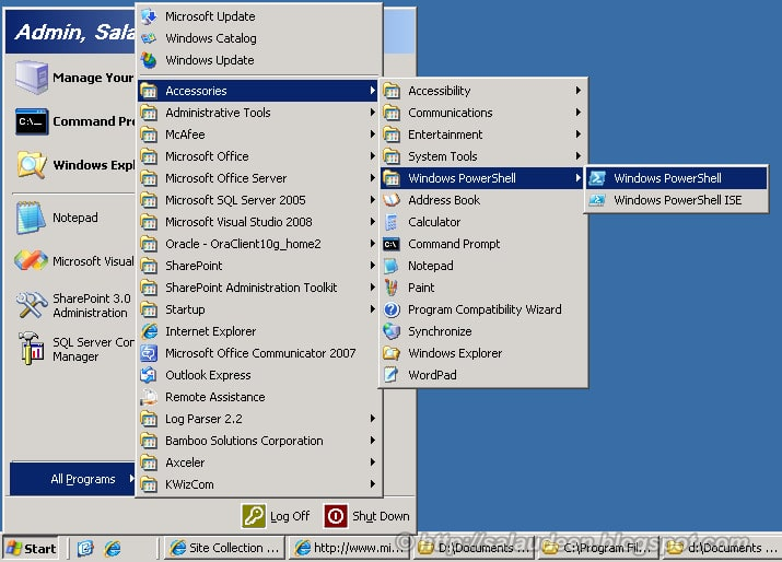 Install PowerShell in Windows 2003