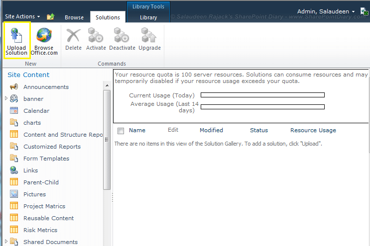 how to deploy sandboxed solution sharepoint 2010