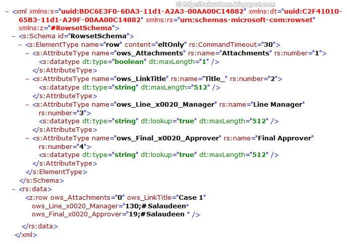 Using owssvr.dll to retrieve List data in XML format