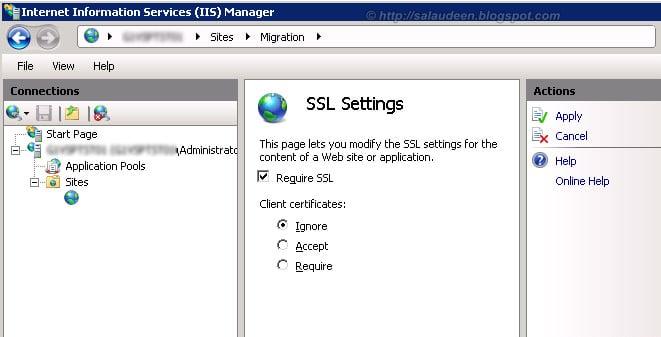 sharepoint 2010 ssl certificate installation in IIS