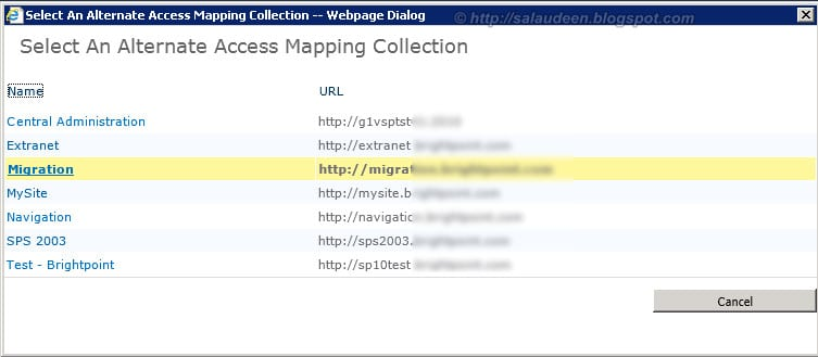sharepoint 2010 Alternate access mapping