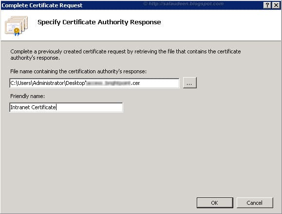 generate certificate Signing Request - CSR