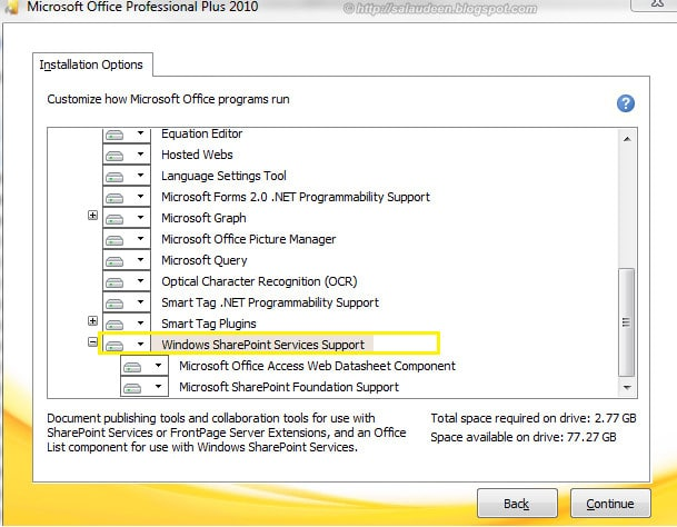 windows sharepoint services support