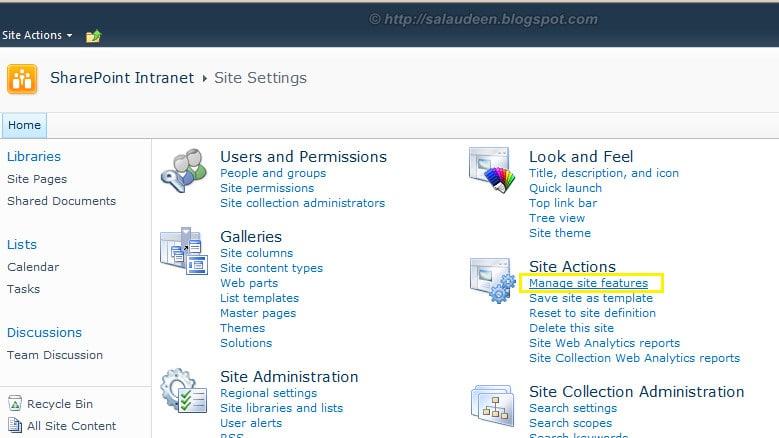sharepoint 2010 deploy site column