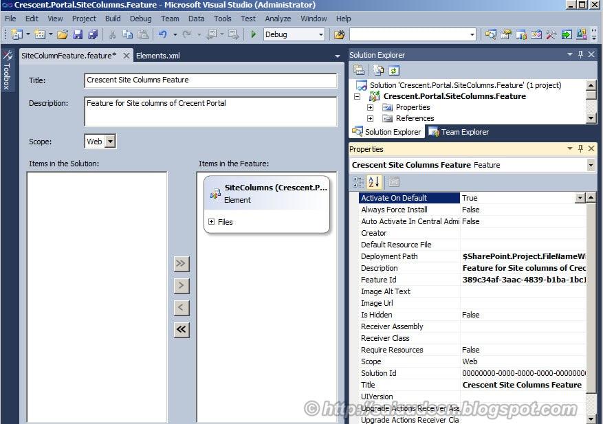 sharepoint 2010 site columns deployment