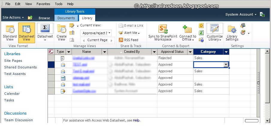 editable datasheet view when content approval is on