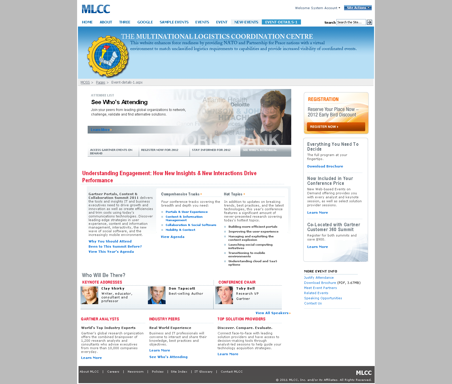 event details sample page