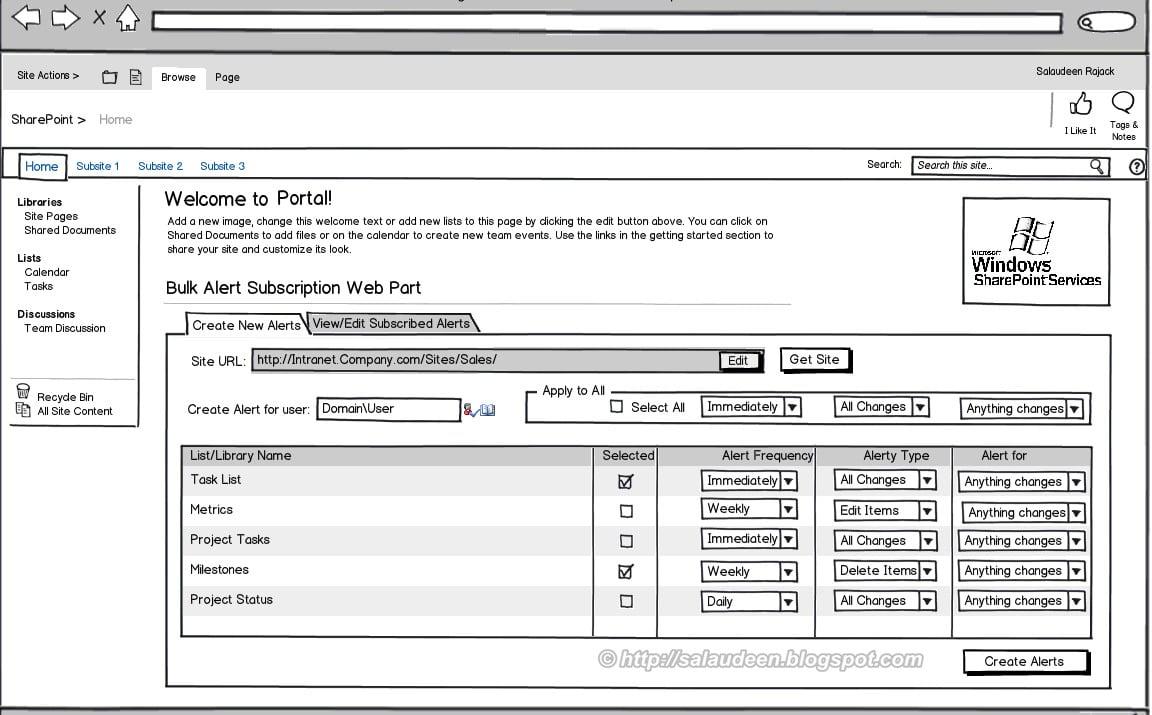 balsamiq sharepoint 2010 mockup