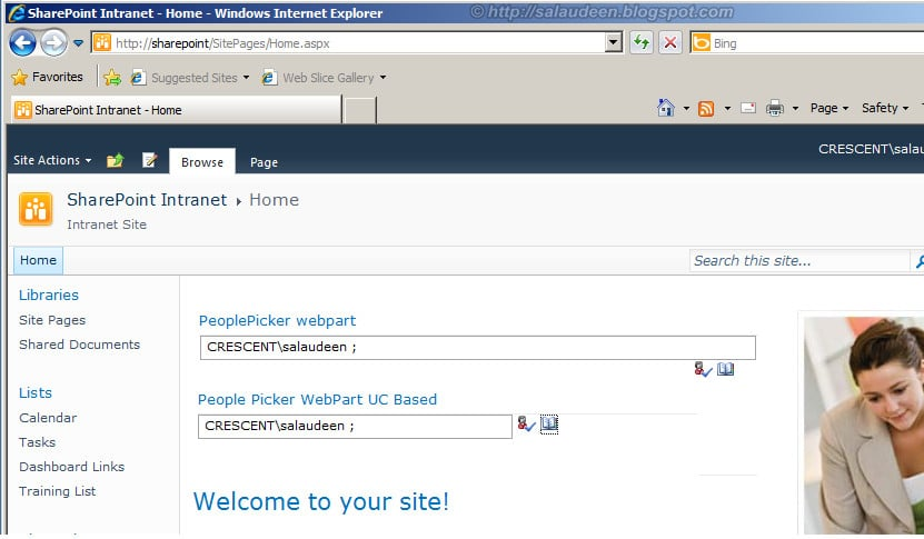 People Picker in Custom Web Parts