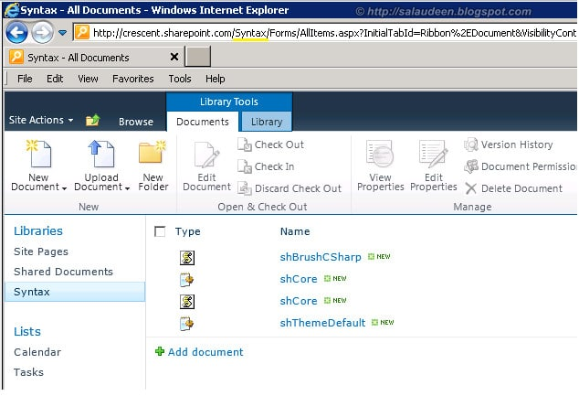 upload to a document library