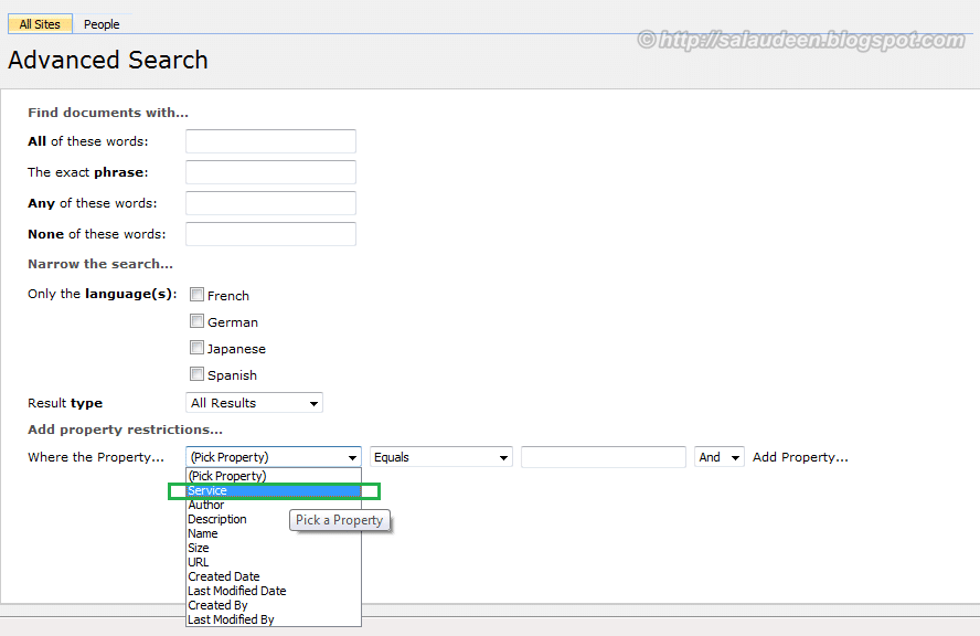 sharepoint search by custom columns