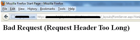 bad request request header too long