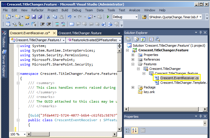 how to create sharepoint feature in sharepoint 2010