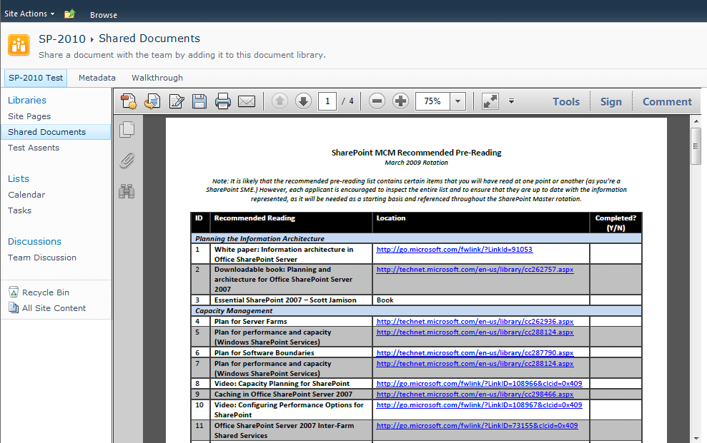 sharepoint display pdf in web part