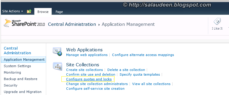 SharePoint 2010 Site Collection Quotas and locks