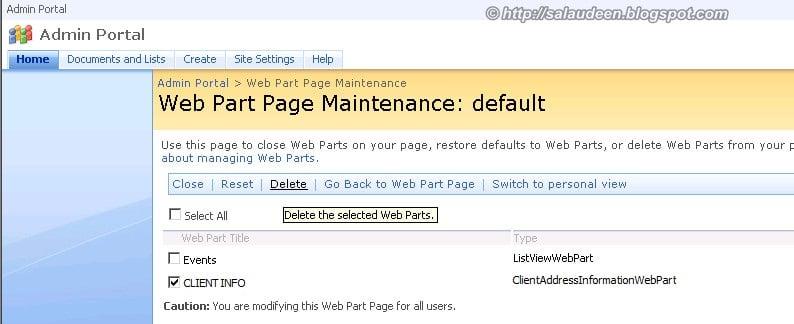 web part maintenance mode sharepoint