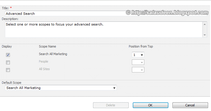 sharepoint 2007 search results scope