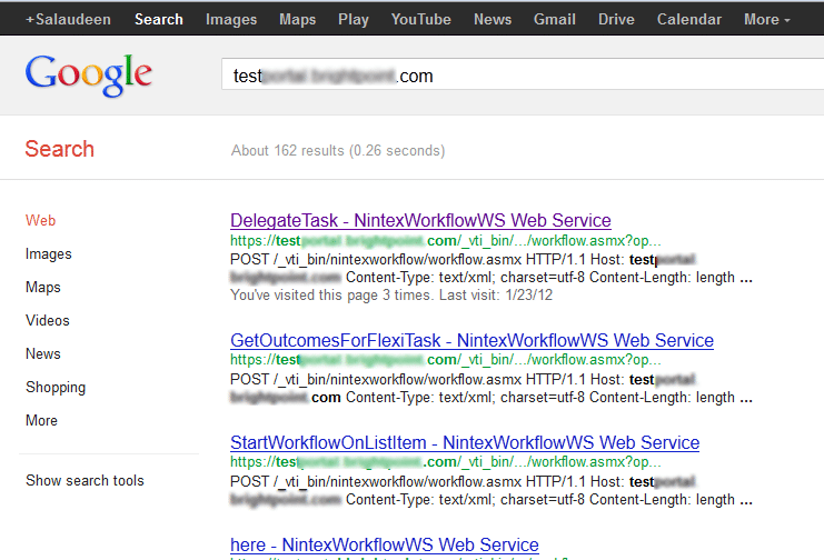 web services exposed