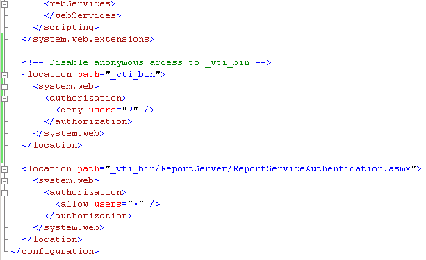 sharepoint web services anonymous