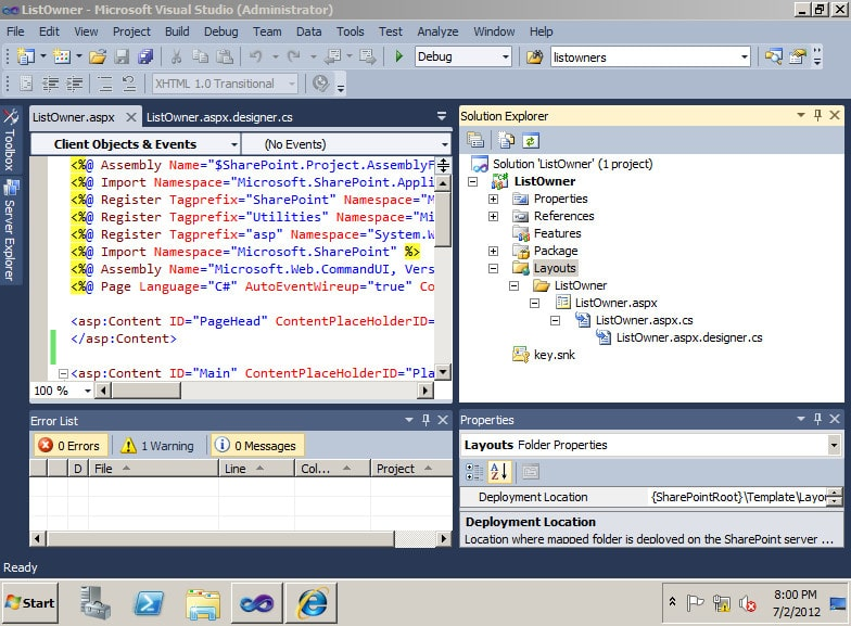 how to create custom page in sharepoint 2010