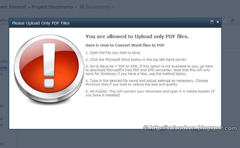 sharepoint 2010 event receiver custom error