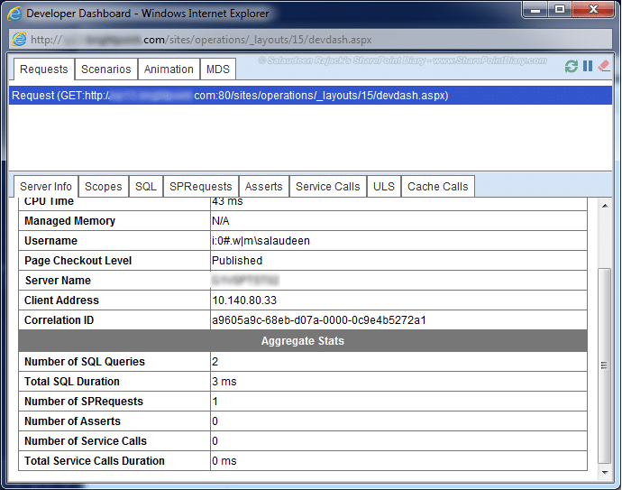 developer dashboard sharepoint 2013 enable