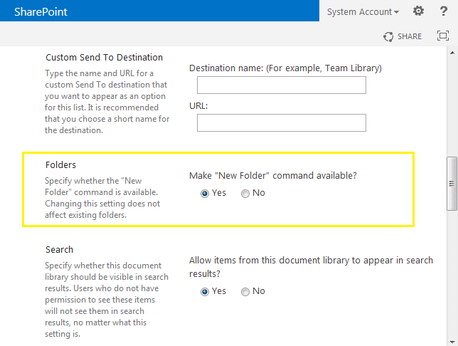 sharepoint 2010 create folder in a list