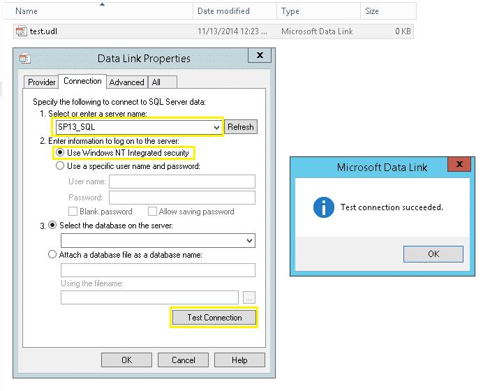 How to test SQL Server Alias