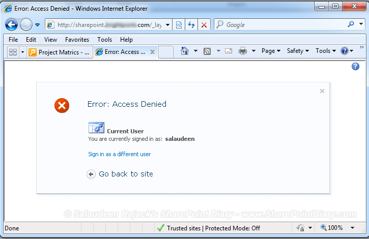 sharepoint 2010 secure view